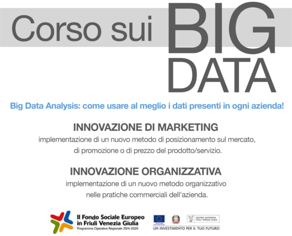 Locandina corso sulla Big Data Analysis | Fabbrica delle Idee | Coworking, Maniago
