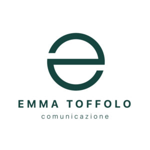 Logo Emma Toffolo comunicazione - verde scuro su fondo bianco